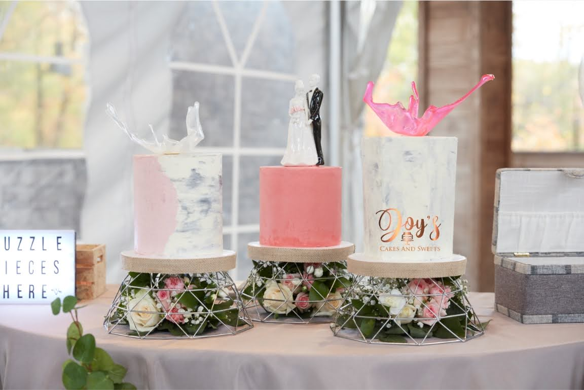 3 Piece Wedding Cake